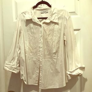 Button down work blouse